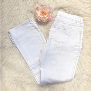 Diane Gilman white Jeans 10